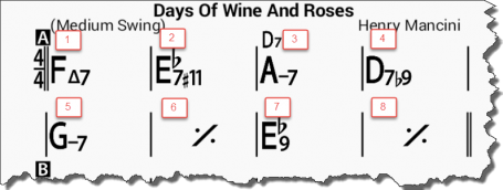 Days of Wine and Roses - A section