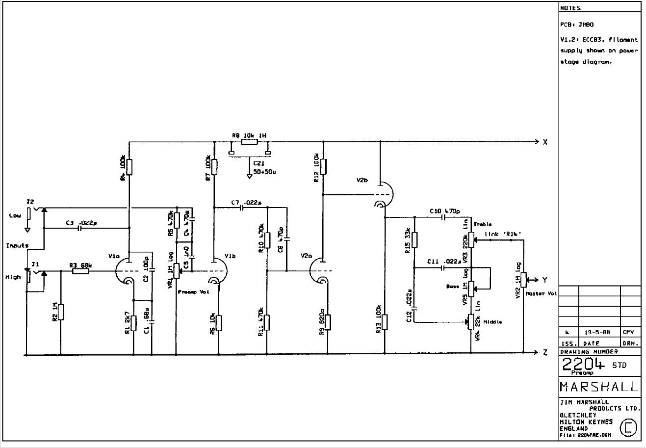JCM800 Schema page 1